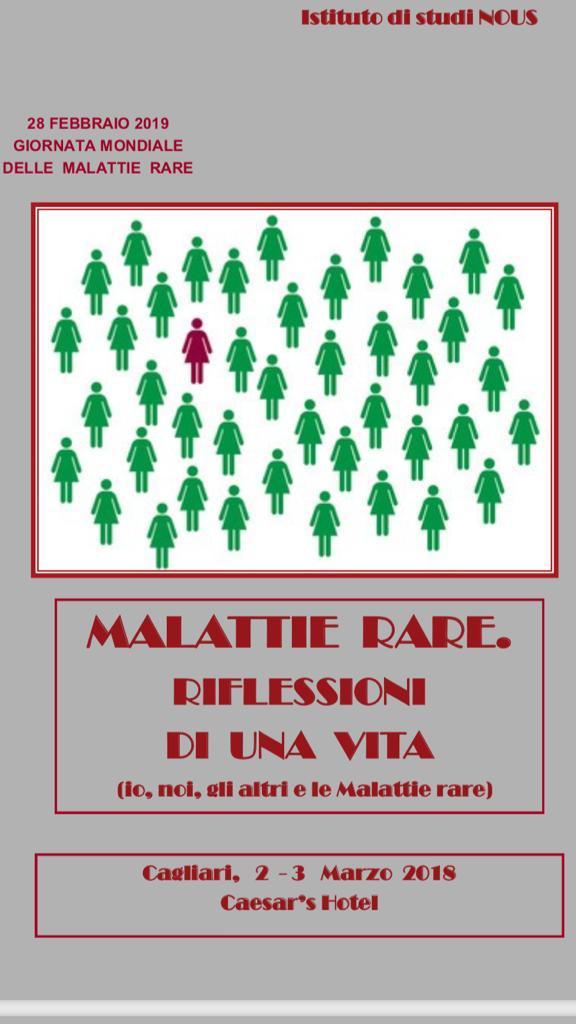 Convegno Malattie Rare  3 Marzo Cagliari Caesar's Hotel